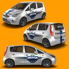 subcompact cars subcompact car mock up by logic design graphicriver