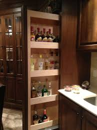 Open Bar Cabinet Hidden Liquor Cabinet Basement Traditional With Cherry Cabinetry