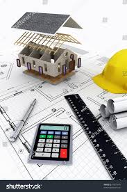 concept designing calculating budget building house stock concept of designing calculating budget and building a house project