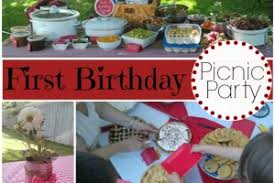 Picnic Decorations First Birthday Picnic Party Decorations Food And Fun Evolving