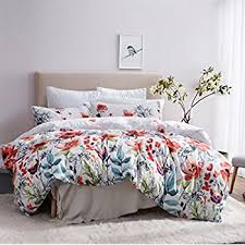 Pillow And Duvet Set Amazon Com Gray Duvet Cover Set Reversible With Grey Teal