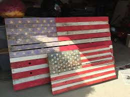 Pallet American Flag Diy Pallet Flag Is Perfect Easy Pinterest Holiday Craft For 4th