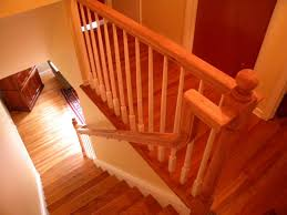 Replace Stair Banister Wood Stairs And Rails And Iron Balusters Wood Handrail