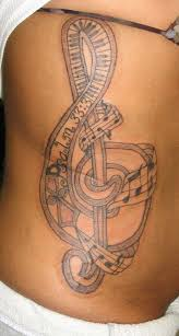 retro tattoos of music