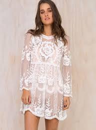 delilah long sleeve lace mini dress