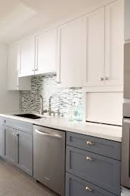 off white kitchen cabinets with grey countertop home design ideas two tone kitchen cabinets grey and white