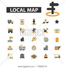 map logo local map icons local map logo vector photo bigstock