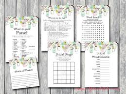 mint to be bridal shower printable bridal shower activities magical printable