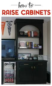 raising kitchen base cabinets how to raise cabinets