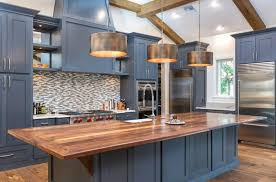 blue kitchen cabinets grey walls blue kitchen ideas cupboards walls and counters