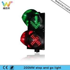 stop and go light china 200mm carriageway driveway red cross green arrow stop and go