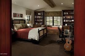 Bookshelf Seat Craftsman Guest Bedroom With Built In Bookshelf U0026 Window Seat In