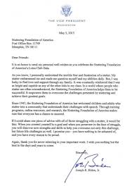 Challenge Vice Letter From The Vice President Stuttering Foundation A