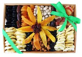 Fruit And Nut Gift Baskets Heavenly Organic Dried Fruit U0026 Nuts Tray