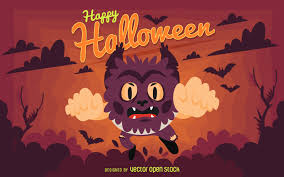 halloween party retro design vector download