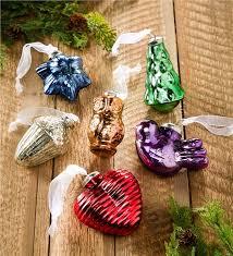 Glass Christmas Ornament Sets - mercury glass ornaments set of 6 decorating the tree