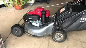 lawnmower govenor adjustment honda lawn mower revs up too much or