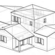 dessin de chambre en 3d plan maison plain pied 3 chambres 3d