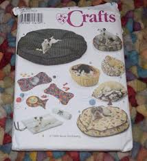 Cat Bed Pattern Simplicity 9065 Dog Cat Beds Roll Up Mats Place Mats Sewing