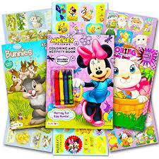 Minnie Mouse Easter Stickers Disney Easter Coloring And Activity Book Set With Stickers 3 Books