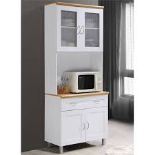 kitchen cabinet with top and bottom hodedah kitchen cabinet with top and bottom enclosed cabinet space in white wood
