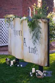 wedding backdrop book wedding ideas that are out of a fairy tale