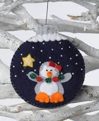Felt Penguin Christmas Ornament Patterns - christmas decoration felt christmas ornaments baby deer ornament