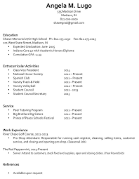 College Admission Resume Template Resume For College Application Template How To Write A Resume For