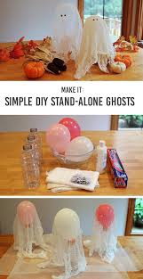 halloween craft diy stand alone ghosts cheesecloth ghost