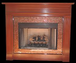 Mosaic Tile Fireplace Surround by Artistic Mosaic And Fused Glass Tiles To Cover A Fireplace