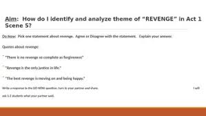 themes for hamlet act 2 ir hamlet act 1 scene 5 theme of revenge ppt lesson by renner