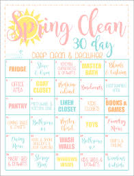 how to spring clean your house the 30 day clean home challenge spring clean up printable cleaning