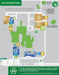 Unt Parking Map Visit Us College Of Information
