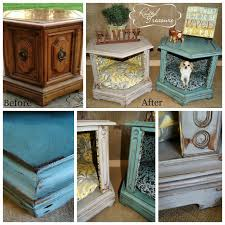 end table dog bed diy repurposed and refinished end table dog beds diy home decor ideas
