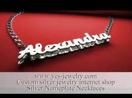 custom made name necklaces nameplate necklace silver eu custom jewelry