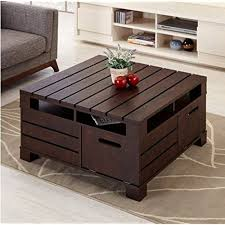 Rustic Square Coffee Table With Storage Rustic Square Coffee Table