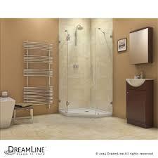 glass shower door splash guard dreamline showers prismlux hinged shower enclosure