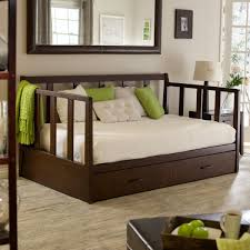 Simple Box Bed Designs In Wood Bedroom Simple Day Bed With Trundle With Oak Wood Material And