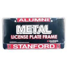 stanford alumni license plate frame stanford cardinal alumni metal license plate frame w