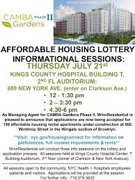 affordable housing lottery informational sessions community