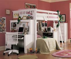 Kids Bunk Beds With Desk Underneath by Kid Bunk Beds With Desk Pink Stripes Bed Covers With Laminate