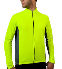 hi vis winter cycling jacket men u0027s long sleeve fleece cycling jersey full zip
