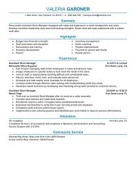 Resume Templates For Retail Jobs by Retail Manager Resume Resume Example