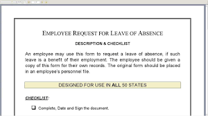 doc 595880 leave application format for office u2013 sick leave
