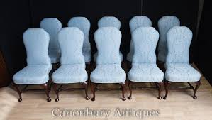 Victorian Upholstered Chair Set 10 Victorian Upholstered Dining Chairs Seats
