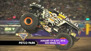 monsters truck videos monster jam roars into petco park in san diego in january 2015