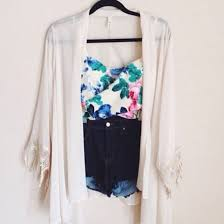 blouse cardigan stop top high waisted shorts summer summer