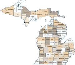 map of michigan county map png