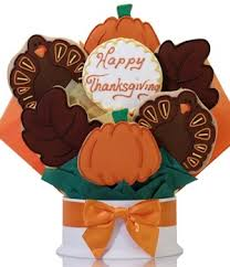 thanksgiving cookie bouquet 2 day advance by sweet alainas in