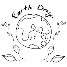 sketch planet earth in black and white colours to celebrate earth
